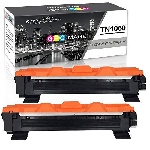 GPC Image TN1050 TN 1050 Cartucce Toner sostituzione Compatibili per Brother TN-1050 per HL-1110 DCP-1510 HL-1210W DCP-1610W HL-1112 MFC-1810 HL-1212W MFC-1910W DCP-1612W DCP-1512 (Nero,2-Pacco)