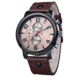 Watches for Men's,Cebbay Fashion Hot Men's Sports Quartz Watches Mens Watches Luxury Leather Wristwatches Analog Mechanical Watch