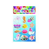 HENBRANDT 6 Packs Mermaid Stickers Party Bag Fillers / Favours