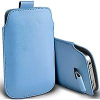 ( Baby Blue ) Orange Miami Protezione Faux Leather Pull