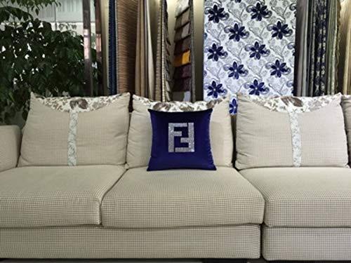 WWESF F Pillow Cover, Creative Art Paris FF Luxury Crystal Diamond Velvet Fabric Throw Pillow Case Pillowcase Wholesale,5