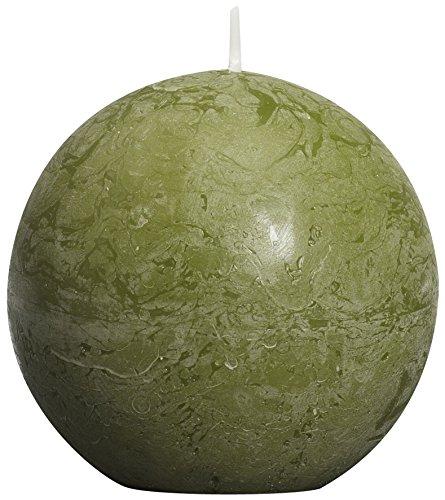 Rustikal Olive (Rustikal Ball Kerze, Paraffin Wachs, Olive Grün)