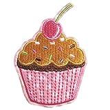 1PCS Vintage Stil Cupcakes Eisen auf Patch Nähen auf bestickte Applikation von toyzhijia Typ 3