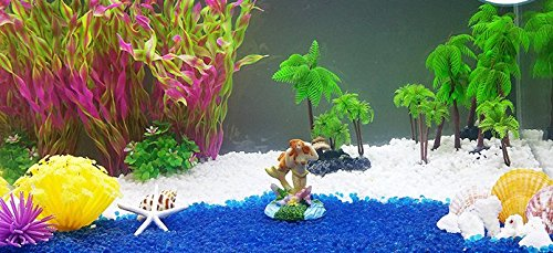 iNeith Fish Tank Plant Water Grass Aquarium Artificial Plastic Colorful Decor Ornament Decoration Submarine Pack of 5 6
