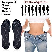 KOBWA Plantilla de Masaje de Terapia magnética, Almohadilla para Adelgazar, Plantillas de Zapatos de