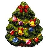 Orchidea kit de Tapisserie au Crochet: en Forme de Coussin:: Arbre de Noël, Multi, 39x 47cm, Multicolore, 39 x 47cm