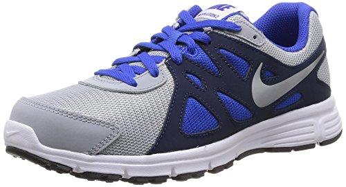 Nike Revolution 2 GS, Running Entrainement Garçon Gris (Wolf Grey/White-Lyon Blue-Black)