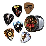 ACDC Set of 6 Loose Guitar Médiators in Tin ( Collection A )