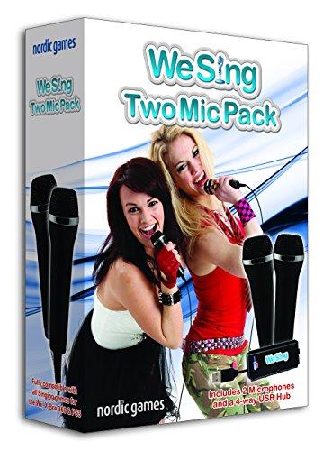 Ps2/Ps3/Xbox 360/Nintendo Wii - Paquete De 2 Micrófonos, We Sing (Incluye 1 Hub De 4 Puertos Usb [Importación