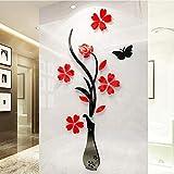 Gereton DIY 3D Blume Aufkleber Wandaufkleber Removable Home Room Decoration Applique Dreidimensionale TV Hintergrund Entranceway Kunst Wandbild