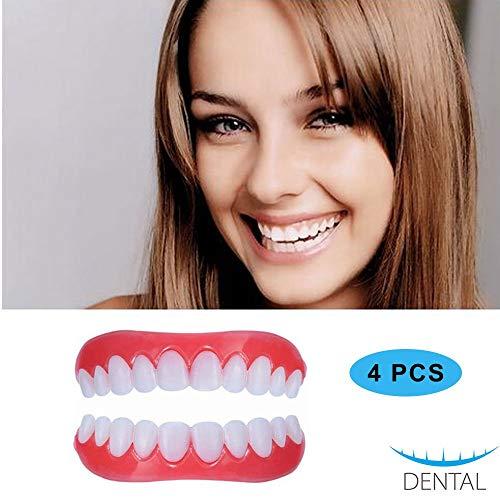 Zahnersatz Kosmetische Schöne Zähne Sofortiges Lächeln Perfekte Zahnprothese Natürlich Neue Bequeme Whitening Aufkleber 2 Paar -