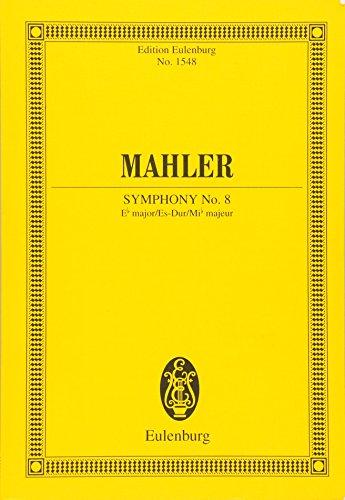 Sinfonie Nr. 8 Es-Dur: Orchester. Studienpartitur. (Eulenburg Studienpartituren, Band 1548)