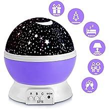 Sternenhimmel Projektor, innislink 360 Grad drehbar Star Romantisches Kosmos Sternhimmel, Nachtlicht Lampe LED Sternen für Kinder Zimmer, Schlafzimmer, Hochzeit, Geburtstag, Parteien(Lila)