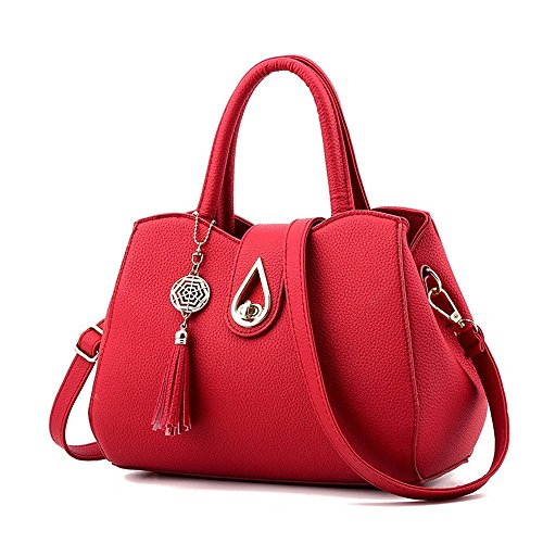 Flada, Borsa a tracolla donna rosso Bordeaux medium Wine