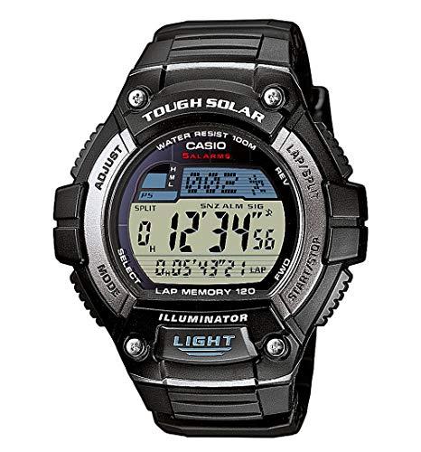 Casio CASIO Collection Men - Reloj digital de caballero de cuarzo con correa de resina negra (alarma, cronómetro, luz) - sumergible a 100 metros - male - Digital - Resin - Solar - Chronograph