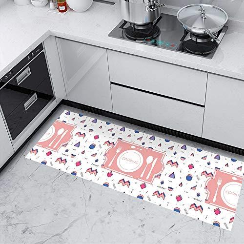 Creme Bodenfliese (KLMWDDBT Fliesenaufkleber Küche Wasserdichte Rutschfeste Verschleißschutz Pvc-pad Verdickte Cartoon-bodenfliesen Aufkleber Selbstklebend 40x120cm XCF-002)