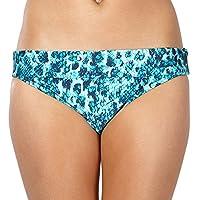 Beach Collection Womens Blue Snakeskin Folded Bikini Bottoms 16