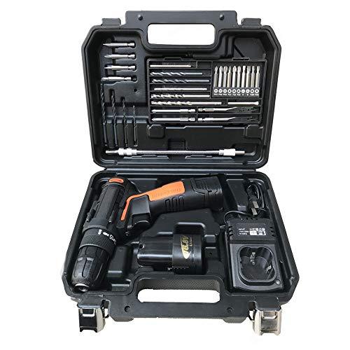 Haushalt Lithium-Batterie-Bohrer-Kit,Wiederaufladbare elektrische Bohrmaschine, Ideal für alle Arten von Arbeit zu Hause