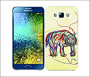 Galaxy Printed 1765 Colourful Animal Scribble Tiger Hard Cover for Samsung GRAND Prime