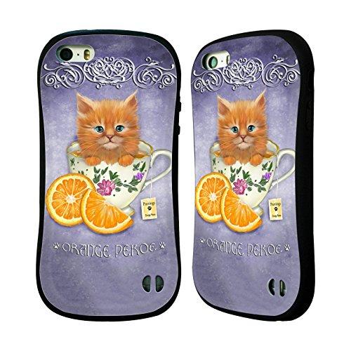 Ufficiale Ash Evans Zucca Speziata Latte Gatti Su Tazze Case Ibrida per Apple iPhone 7 Plus / 8 Plus Tè Nero Orange Pekoe
