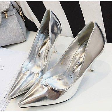 Moda Donna Sandali Sexy donna estate tacchi tacchi in pelle di brevetto Casual Stiletto Heel altri nero / argento / grigio / Fucsia Altri Black