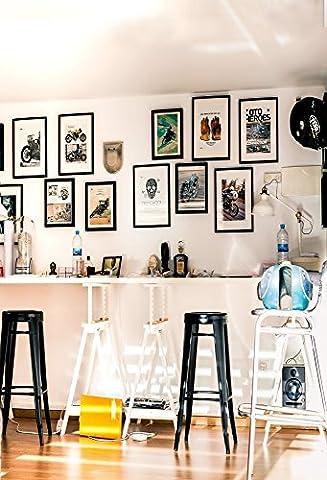 Aaloolaa 1x 1.5m Photographie Fond artistique Style Studio photo Toile de fond pour moto cadres photo Ornements tabourets moderne Mode Décoration intérieure Homme adulte garçon Portrait Props Enregistrement de vidéos