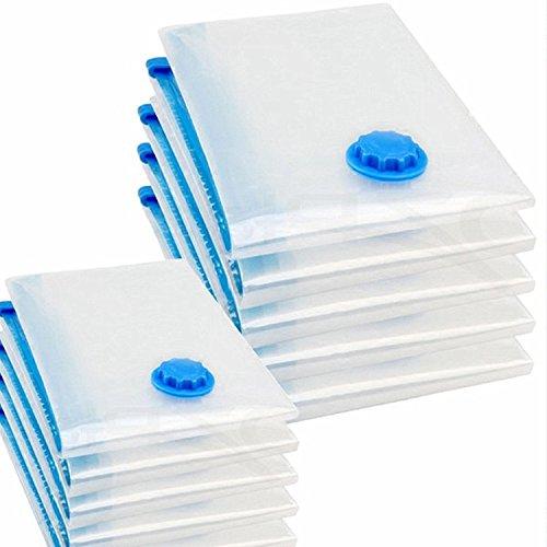 logei® 10 tlg Set Vakuumbeutel Aufbewahrungsbeutel Kleiderbeutel Vakuum-Platzsparer für Betten und Kleidung, 60x80 / 70x120 cm