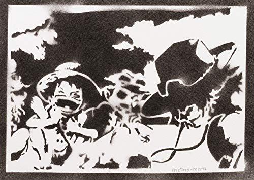 One Piece Luffy Ace Und Sabo Poster Plakat Handmade Graffiti Street Art - ()