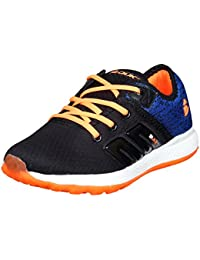 Duke Mens Black/Orange Sports Shoes