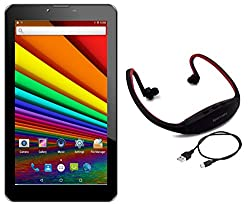 I KALL N1 Dual Sim 3G Calling Tablet with MP3/FM Player Neckband- White