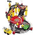 Super 8 Rennstrecke mit Rampe und Fahrzeugen 83 x 65 cm • Baby Kinder Spielstrasse Spielzeug Parkhaus 3 Autos Parkgarage von Siehe Beschreibung