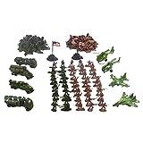 MagiDeal 210pcs Modèles Militaire Figure Soldiers Armée et Avion Jouet Cadeaux Enfant