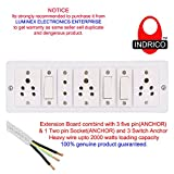 Best Wall Outlets - INDRICO 3 Switches, Socket, 2 Pins Switch Board Review