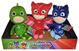 Peluche PJ Masks Set 3 Personaggi Gekko,Gattoboy e Gufetta, Kit Pupazzi Morbidi Occhioni Per La Nana, Figurine Famose Disney Per Bambini, Adventure Time Super Pigiamini -Ergogo