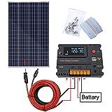 ECO-WORTHY Kit de panneau solaire 120W 200W pour camping-car caravane