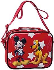 Disney Trousse de Toilette Mickey Y Pluto Vanity, 22 cm, 2,61 L, Rouge