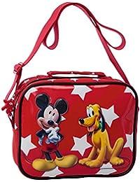 Disney Utensilien-Schultertasche Mickey & Pluto Kosmetikkoffer, 2.618 Liter, Rot