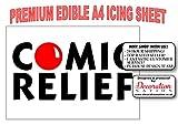 Comic Relief Décoration de gâteau comestible A4