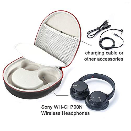 Étui Rigide pour Casque WH-CH700N à Annulation de Bruit sans Fil Sony, Sac de Transport - Gris
