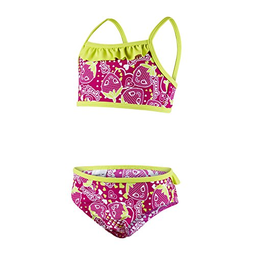Speedo Baby Starfizz Essential 2 Piece Swimwear, Electric Pink/Navy/Lime Punch, 4 Jahre