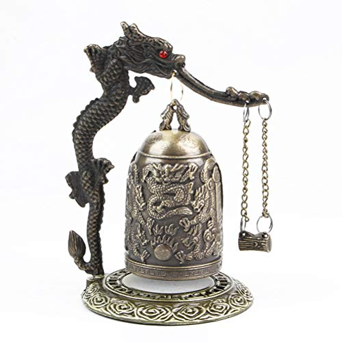 ke Weinlese Drache Fengshui Bell Buddha Glocke Geomantic Glück Bell Tisch Home Ornamente ()