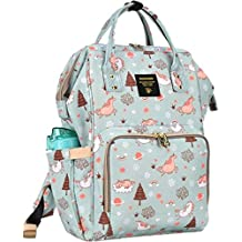 Purple Crane Premium Waterproof 25 L New and Fashionable Unicorn Design Diaper Bag for Mothers and Baby for Travel - Stylish Tote & Bagpack - Green