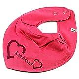HALSTUCH Herz mit Namen oder Text personalisiert pink für Baby oder Kind
