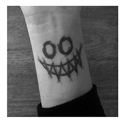 lijinjin Joker Face Big Tattoo Aufkleber Wasserdicht Erwachsene Männer Frauen Party Favor Fake Tattoos -