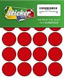 80 Klebepunkte, 40 mm, rot, aus PVC Folie, wetterfest, Markierungspunkte Kreise Punkte Aufkleber