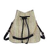 VJGOAL Damen Schultertasche, Frauen Mädchen Mode Weben Eimer Tasche Multifunktional Schulter Messenger Bag