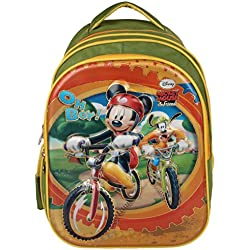 Disney School Bag For Boys & Girls 07+ Years Mickey Mouse Friends Green 25 (L) Green (Dm-0027)