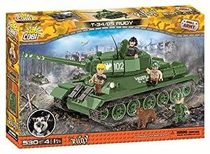 COBI 2486Tanque Small Army-Cuatro Juguete Soldados y un Perro construcción Juguete