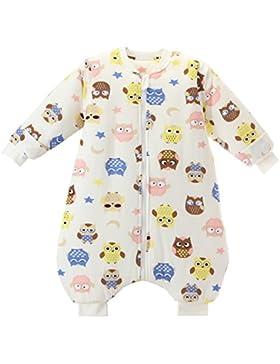 Jaimelavie Unisex Baby Winter Schlafsack mit Beinen 3.5 Tog Warm Kleine Kinder Schlafsaecke aus Baumwolle, Pyjamas...