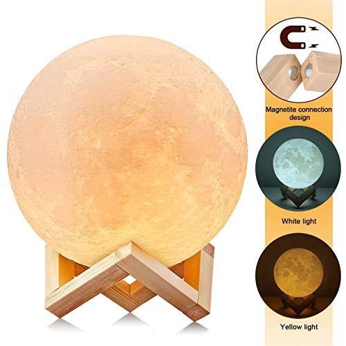 """3D Mond Lampe 15cm/5.91\"""" Light Moonlamp, AGM Helligkeit Led Nachtlicht Stimmungslicht Dimmbare Touch Lampe für Wohnzimmer, Geschenk für Kinder und Liebhaber"""